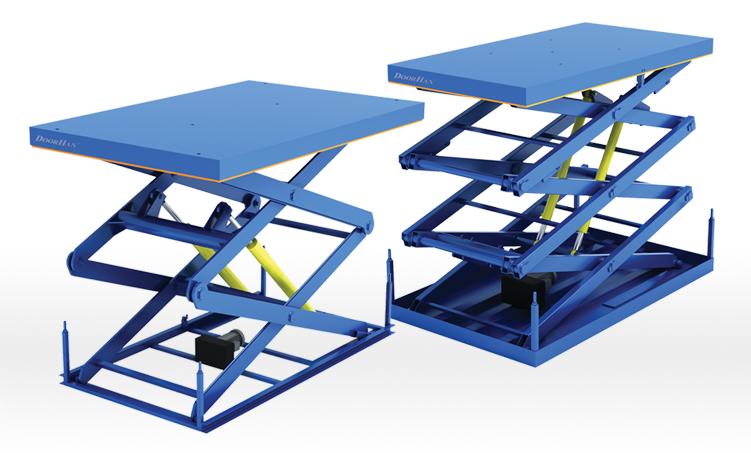 Подъемные столы.