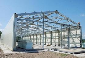 Преимущества строительства из металлоконструкций