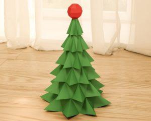 Елка оригами и другие новогодние украшения из бумаги